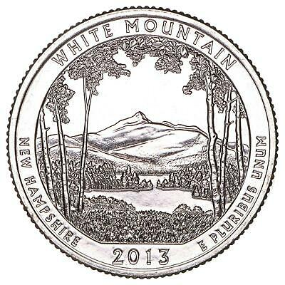 2013 D Parks Quarter ATB White Mountain National Forest BU CN-Clad US Coin
