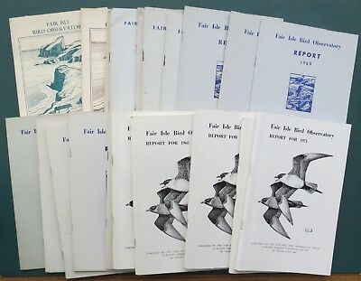 Fair Isle bird observatory reports 1949 to 2000