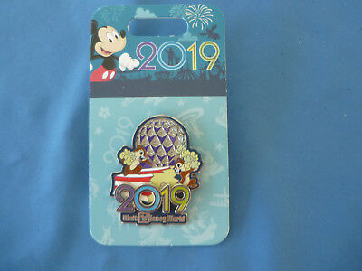 CHIP and DALE 2019  Disney Pin  Walt Disney World 2019 Epcot Ball   New on card