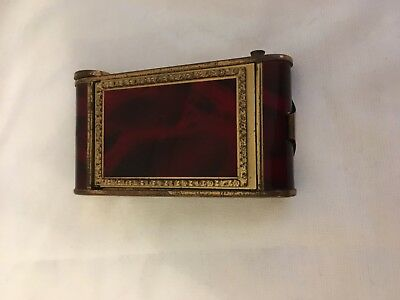 Vintage enamel camera powder compact with lipstick holder and cigarette case