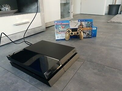 Sony PlayStation 4 500GB Konsole - Ps 4 Controller *GOLD* + 2 Spiele