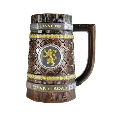 Official Game of Thrones Embossed House Lannister Stein Mug New