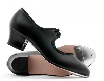 Ladies Black Leather Cuban Heel Tap Dance Shoes All Sizes By Katz Dancewear