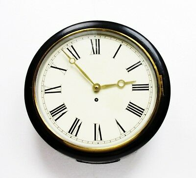 "Antique Fusee Wall Clock 12"" Dial/ 14"" Case School, Railway, Serviced Works Well"