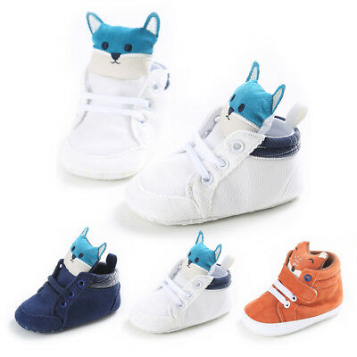 Prewalker Crib Baby Infant Shoes Bear Cotton Soft Boy Sole Boots Anti-slip Girl