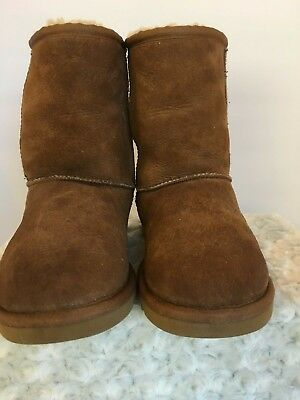 1f39065506e UGG SHORT BOOTS SUEDE Leather Sheepskin Grosby Princess Chestnut ...