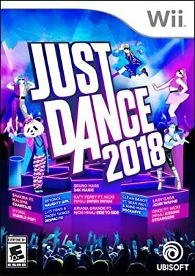 Just Dance 2018  (Wii, 2017) (8251)  Ships Next Business Day***Free Shipping Usa