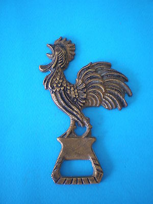 Beautiful old French bronze figure of cock - rare original opener