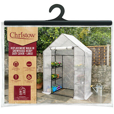 Large Walk in PVC Greenhouse Plant Grows Powder coated steel Frame 120x240x190cm