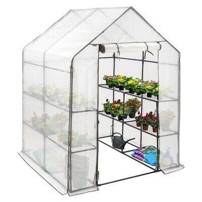 Walk Greenhouse Garden Grow House Reinforced Cover 8 Shelves Extra Large 6ft