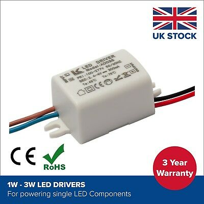1W 2W 3W Constant Current LED Driver Power Supply 2.4 - 4v | 300ma 400mA 600ma