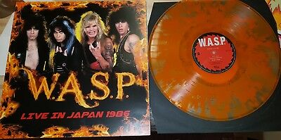 W.A.S.P.  live in japan 1986  Pop Up Cover Orange Vinyl  500 Copies