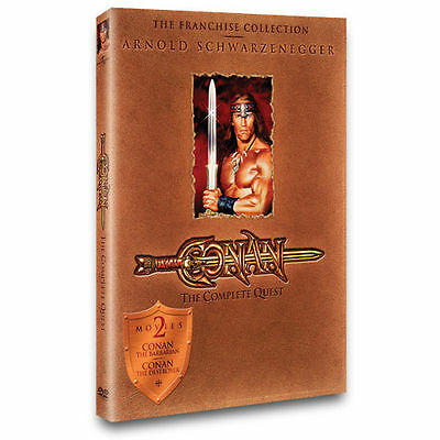 Conan: The Complete Quest (DVD, 2004)  Arnold Schwarzenegger   Both Movies!!