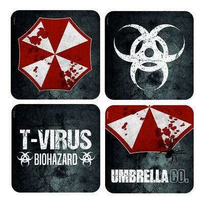 Official Resident Evil Umbrella Corp Set of 4 Lenticular Coasters New