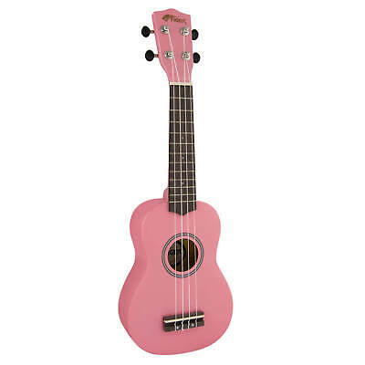 Tiger Soprano Ukulele for Beginners in Pink
