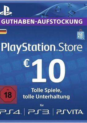 10€ PSN DE Playstation Network Guthaben Code | PS4, PS3, Vita