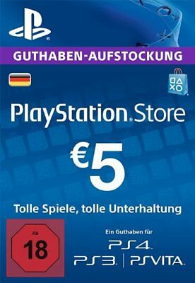 5€ PSN DE Playstation Network Guthaben Code | PS4, PS3, Vita
