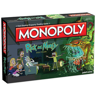 Official Rick and Morty Monopoly New