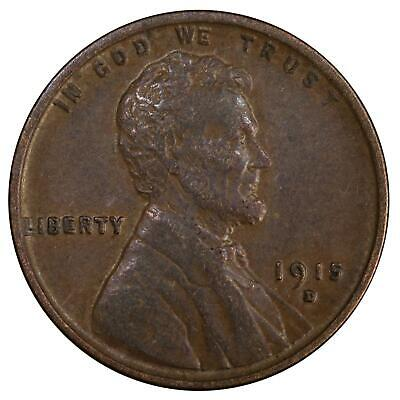 1915 D Lincoln Wheat Cent Extra Fine Penny XF