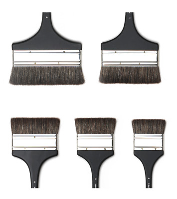 HWAHONG Artist Background Painting Paint Brushes Wide Flat Flat Brush 112 Series
