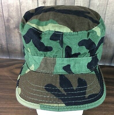 28075d4c09a US ARMY WOODLAND Bdu Camo Boonie Hat - New Production - Size 7 3 4 ...