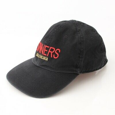 99c71022 Authentic Balenciaga 18Ss Sinners Embroidered Cap Black L59 Grade Ab Used -  Hp