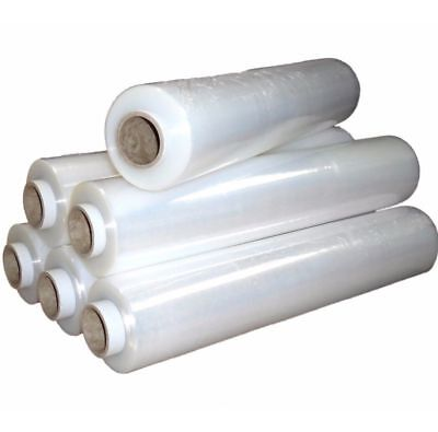 6 X STRONG CLEAR PALLET STRETCH-SHRINK WRAP CAST PARCEL PACKING CLING FILM 400mm