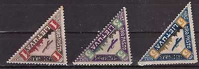 Lithuania 1922 - No: 118-120. Third Airmail Issue MH
