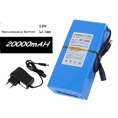 DC 12V 20000mAh DC 122000 Rechargeable Portable Li-ion Battery for CCTV CameB1