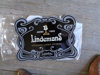 Lindemans reclame beer sign metal new authentic lambic brewery