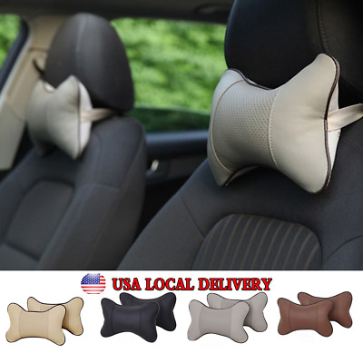 USA Car Seat Headrest Head Bone Pillow Pad Memory Foam Neck Rest Support