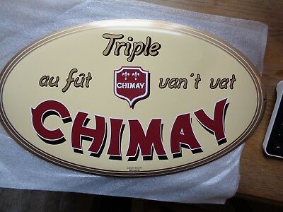Trappist Chimay reclame beer sign metal new pères trappistes triple au fut van '