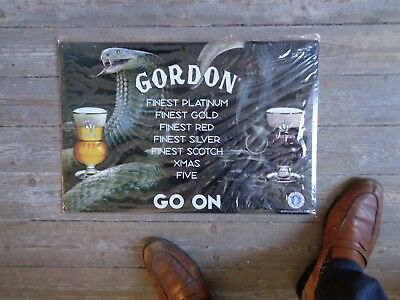 Gordon reclame beer sign metal new in blister martin's brewery