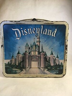 Vintage 1960s Aladdin Disneyland Lunchbox & lidless Thermos