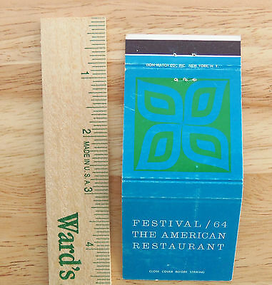 1964-1965 New York World's Fair Matchbook Cover Festival Of Gas Pavilion