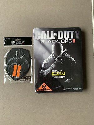 BRAND NEW Call Of Duty Black Ops 2 Collectable T-Shirt and Patch