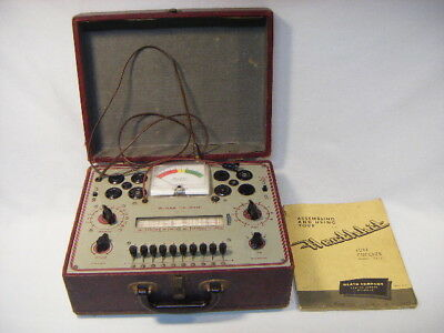 Heathkit TC-2 Tube Checker With Manual In Case Powers On Portable G