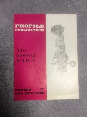 Brochure 1965 The Boeing F4B-4 Profile Pubblications U.s. Navy Fighter Aircraft