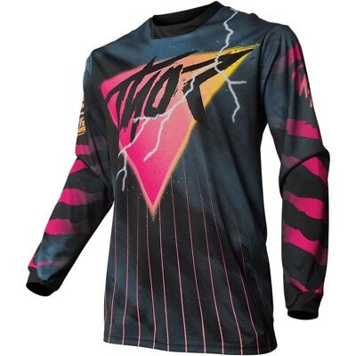 Thor Pulse 2080 Mens MX Offroad Jersey Black/Pink