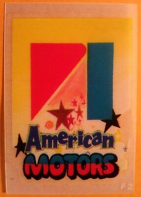 "2.5"" Vintage American Motors Logo Transfer Decoration Rub-On Car Americana"
