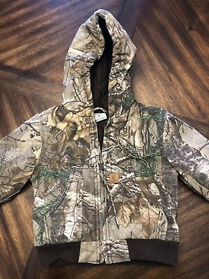Carhartt toddler Size 2T Camo Jacket Quilted Winter Hunting warm Realtree