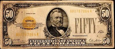 Fr. 2404 1928 $50 FIFTY DOLLARS GOLD CERTIFICATE CURRENCY NOTE VERY FINE
