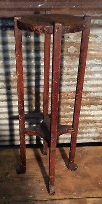 "Antique 20s Conrey Davis Mission Oak Arts Crafts 24"" Plant Stand Shelbyville Ind"