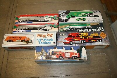 Oil Company Trucks, Lot Of 7 Bp, Mobil, Sunoco & Phillips New In Boxes 1990's?