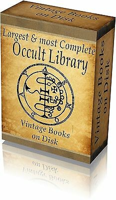 Library of Occult Rare Vintage Old Books Images 3000 4  DVD Witchcraft Wicca 297