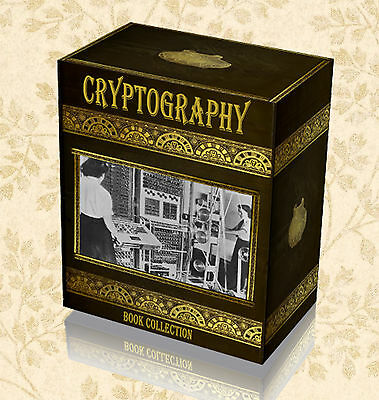 100 Code Breaking Books on DVD Cryptography Ciphers Cryptology Enigma Turing F9