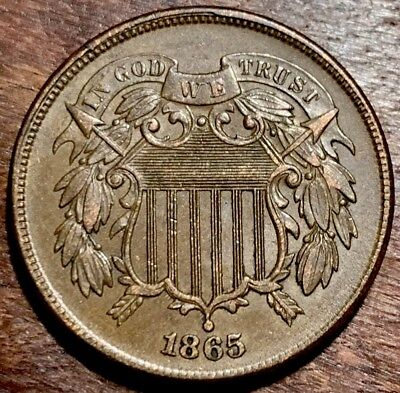 1865 Two Cent High Grade Bold Detail #6