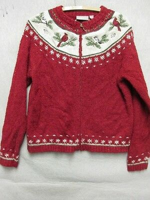 pull rouge oiseau strass dos