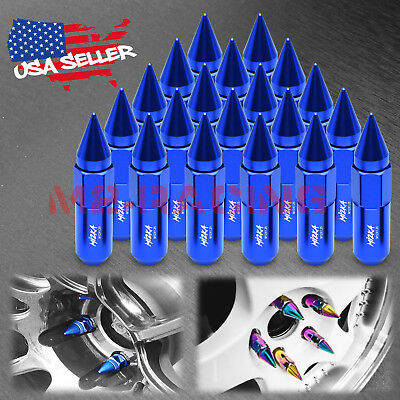 Blue 20 PCS M12X1.25 Spiked Extended Lug Nuts For Nissan Rouge Altima 370z 350z