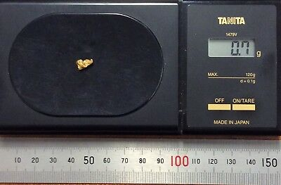 Australian natural gold nugget 0.7 grams approx weight ..